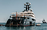 Tranquility yacht at anchor off Antibes