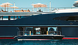 Tranquility yacht with her tender at anchor off Antibes