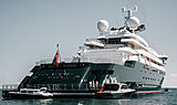 Octopus yacht at anchor off Antibes