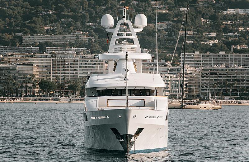Le Pharaon yacht at anchor of Cannes