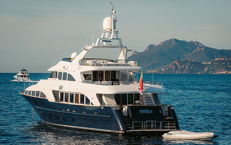Bang! yacht at anchor off Cannes