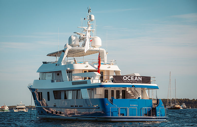 Andrea yacht at anchor off Cannes
