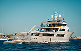 Aspire yacht at anchor off Cannes