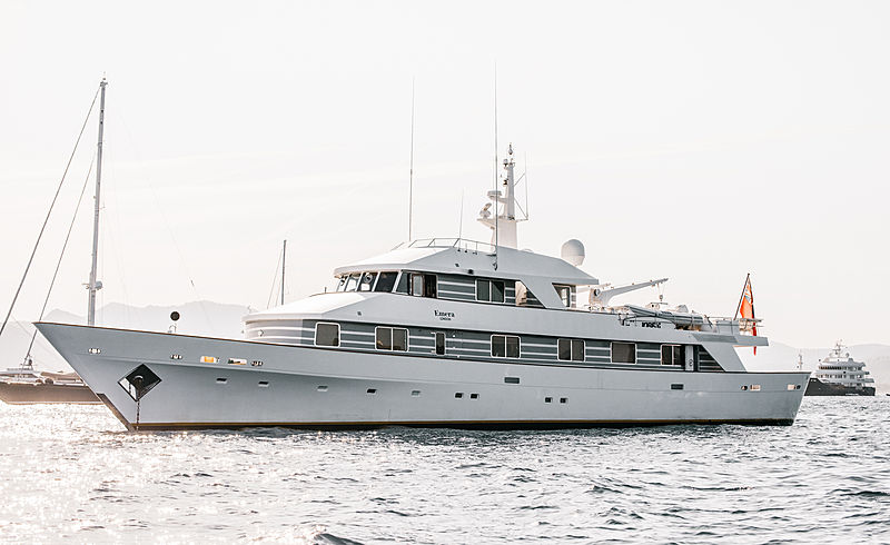 Emera yacht at anchor off Cannes