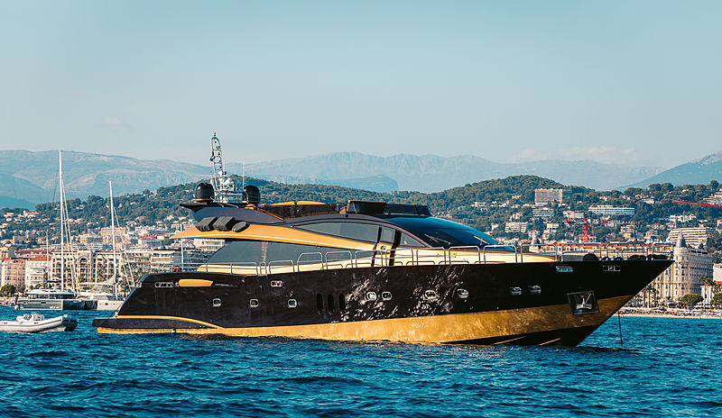Claremont yacht at anchor off Cannes