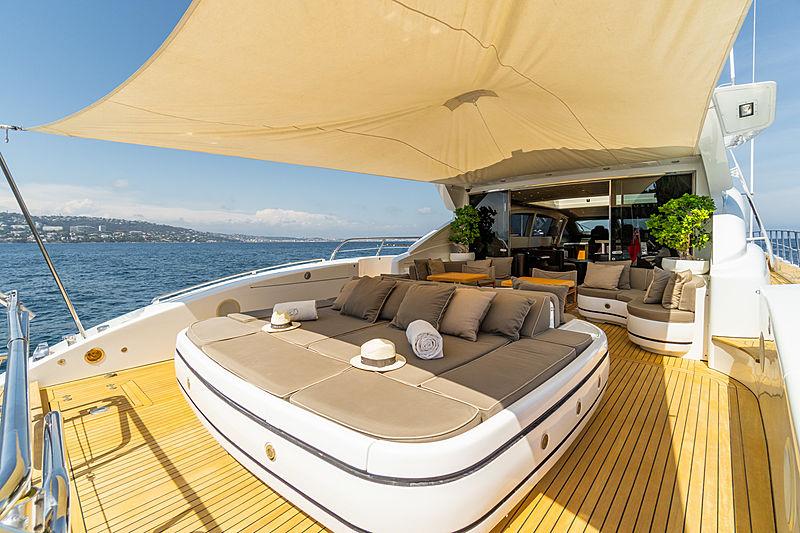 Delhia yacht aft deck