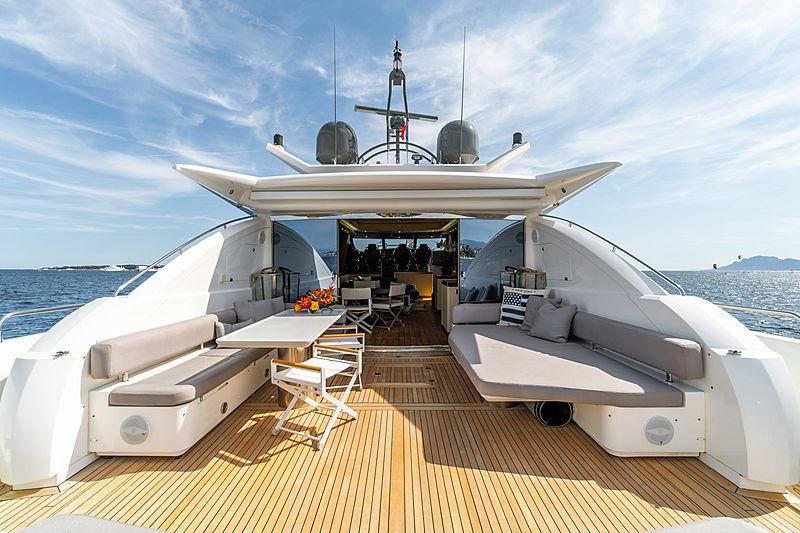 La Gioconda yacht aft deck