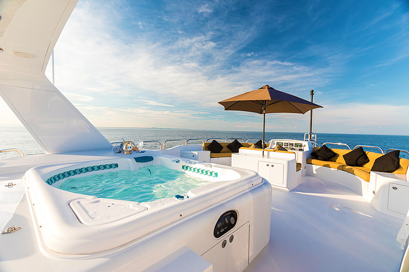Lady Kath yacht sundeck