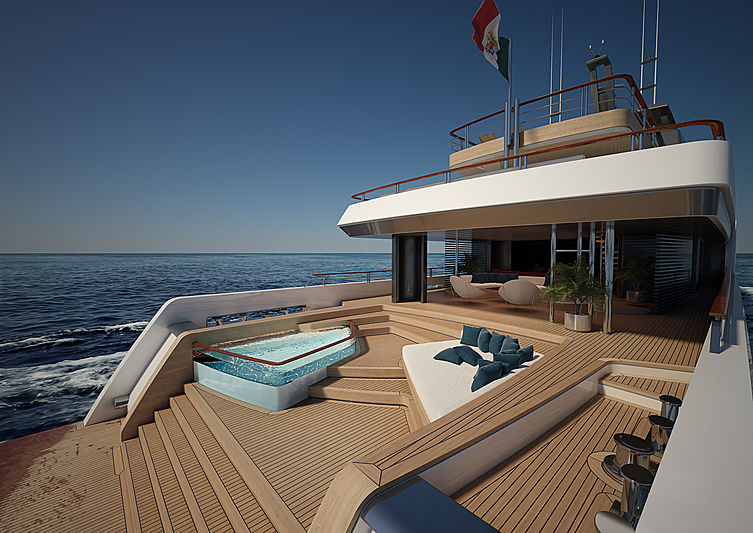 62m Luca Vallebona yacht concept beach club