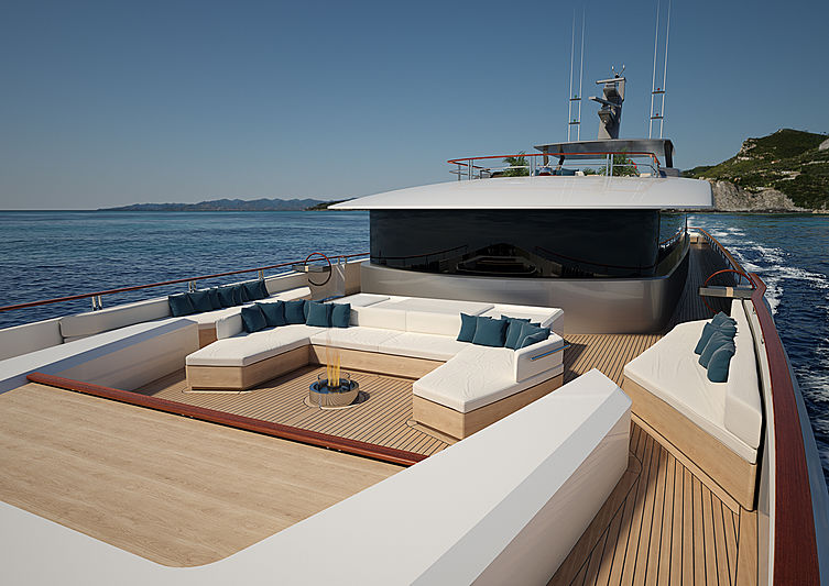62m Luca Vallebona yacht concept upper deck