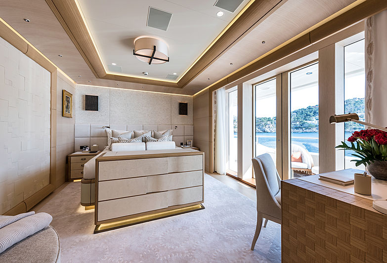 Here Comes The Sun yacht stateroom