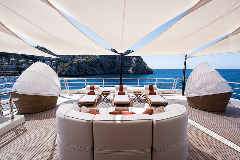 Here Comes The Sun yacht aft deck