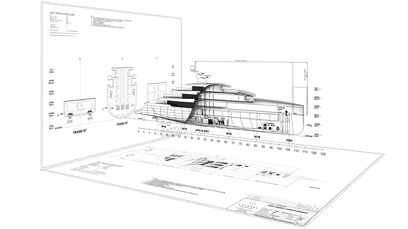 Inception yacht design concept by Isaac Burrough Design and Lateral Naval Architects
