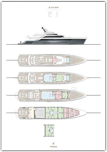 Alia yacht Priject Al Waab II 55m layout
