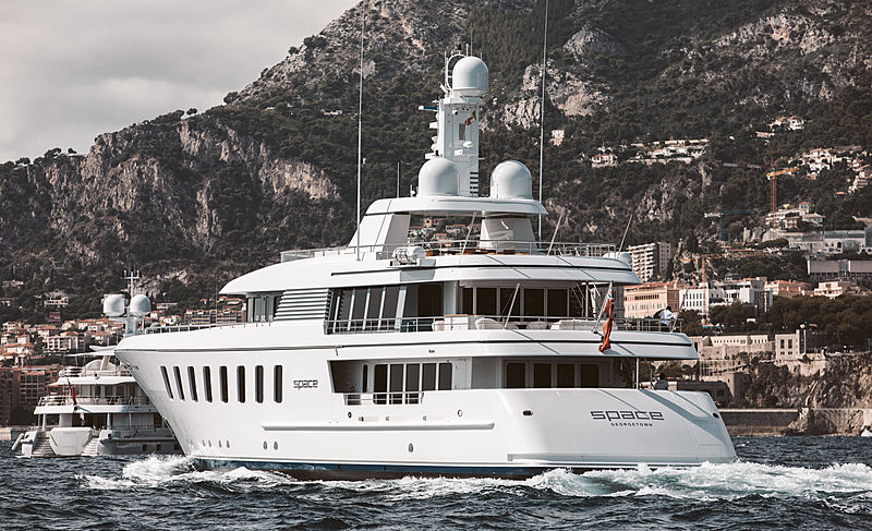 Space yacht at Monaco Yacht Show 2019