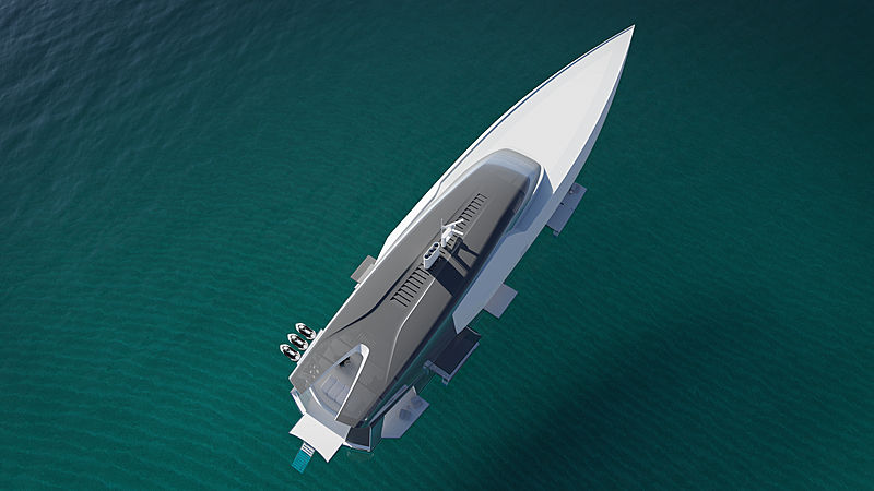 Project Inception yacht concept profile
