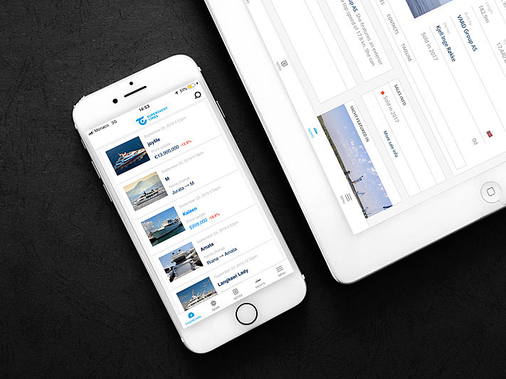 SuperYacht Times iQ mobile application