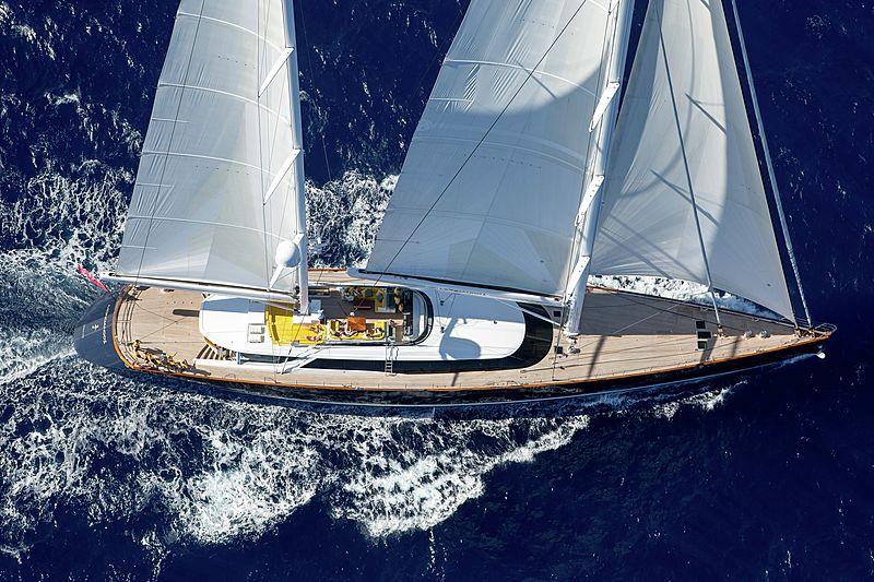 Mondango 3 yacht sailing aerial