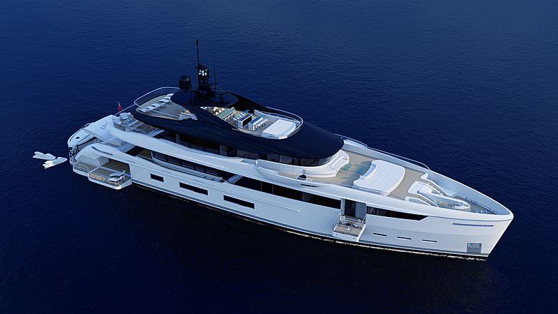 Wider 180 yacht exterior design