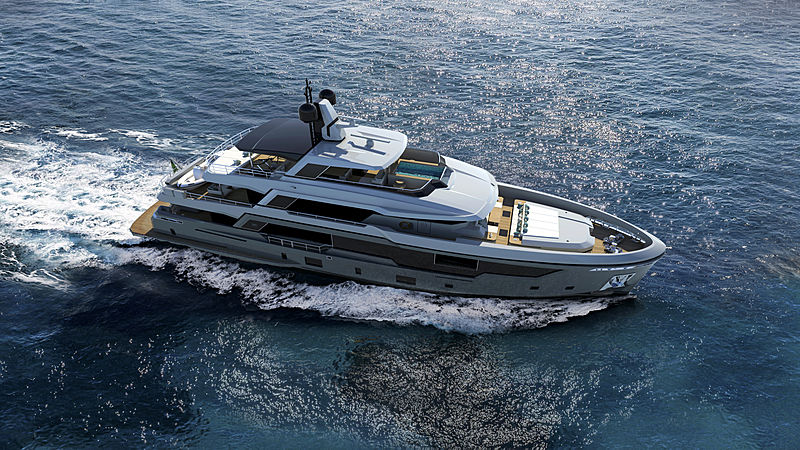 RSY 38m EXP project rendered yacht cruising