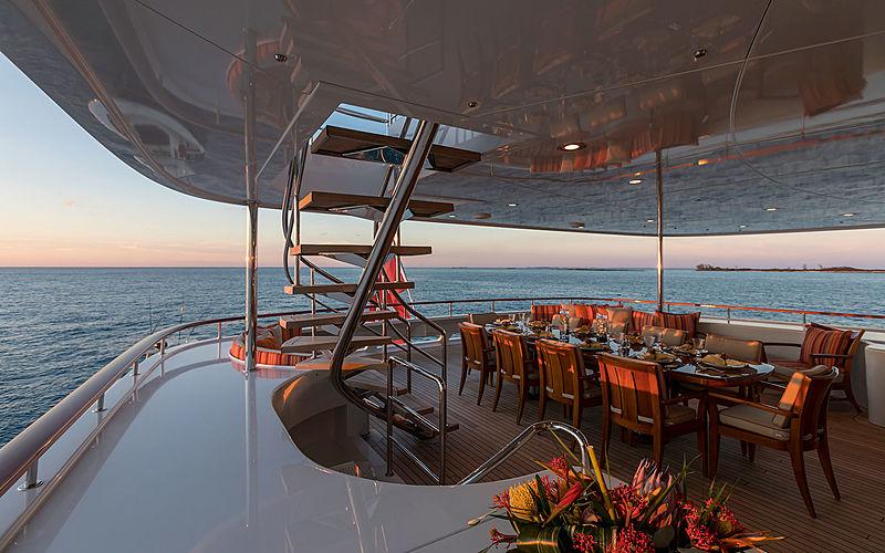 Avalon yacht aft deck