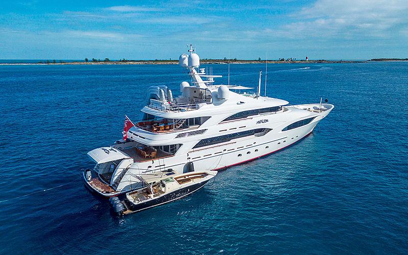 Avalon yacht anchored