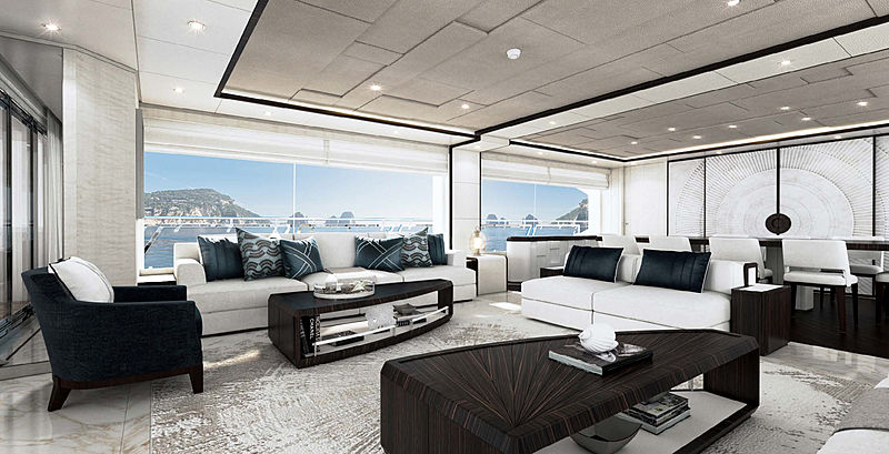 Majesty 120 yacht project interior design