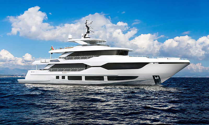 Majesty 120 yacht project exterior design