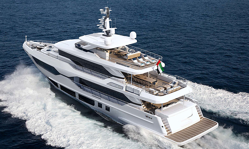 Majesty 120 yacht project cruising