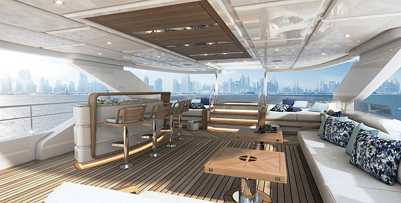 Majesty 120 yacht project deck design