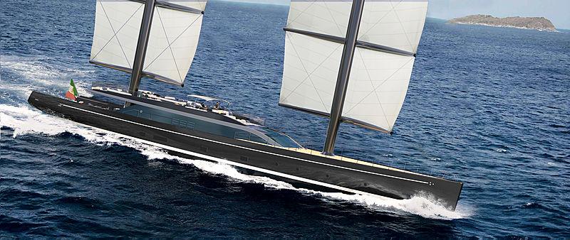 Perini Navi 56m Falcon Rig yacht exterior design