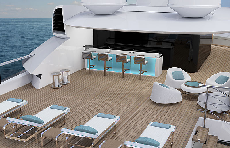 ISA Continental 80 yacht exterior design