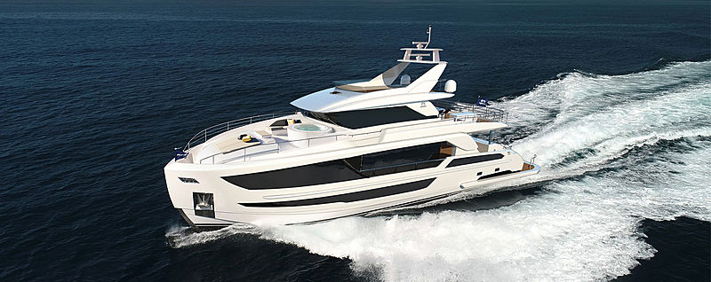 Horizon FD92 Tri deck exterior design