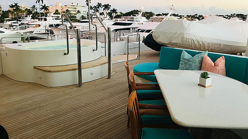 Relentless yacht deck and jacuzzi
