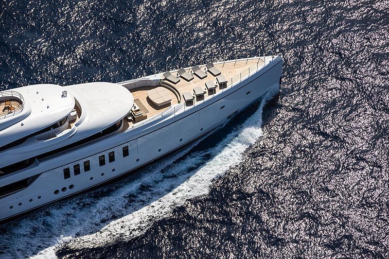 Metis yacht aerial