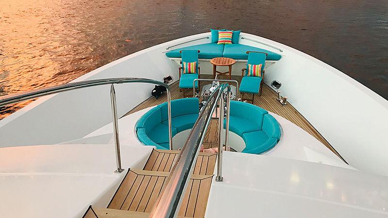 Relentless yacht foredeck