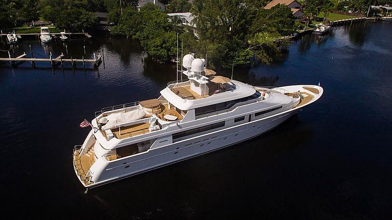 Relentless yacht cruising