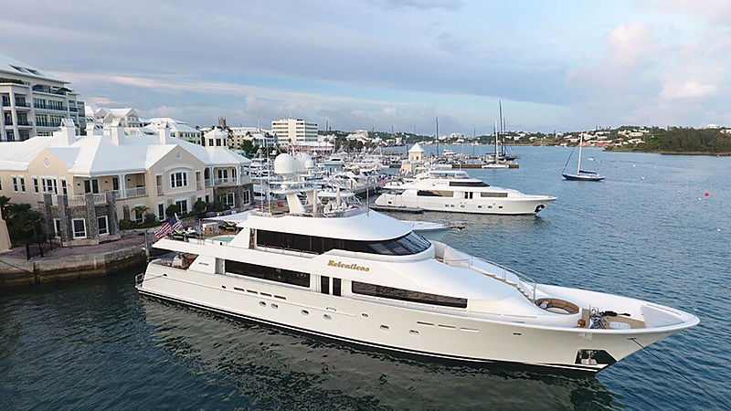 Relentless yacht docked