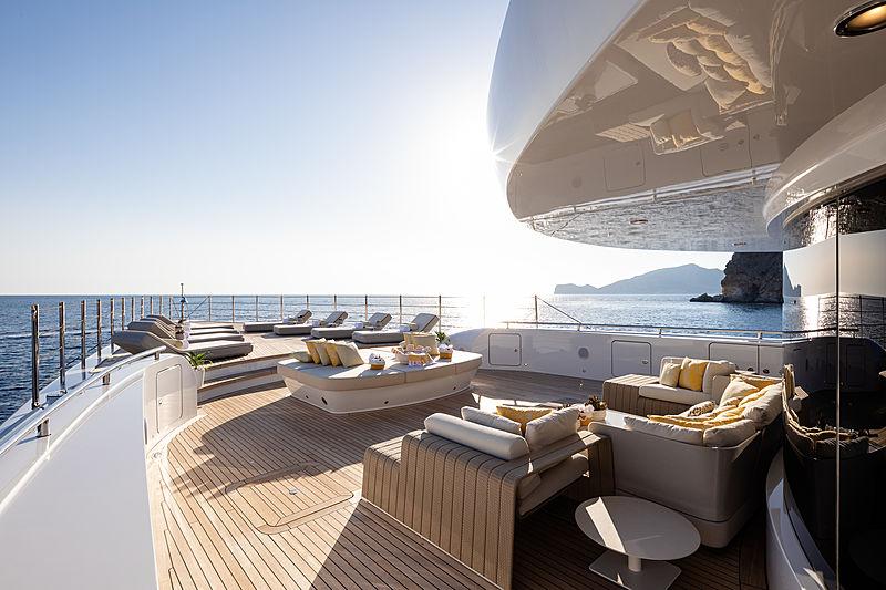Metis yacht deck